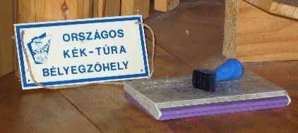 Kék-túra bélyegző