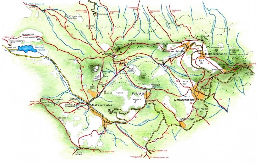 Ágasvár környékének térképe