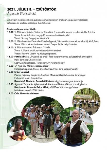 Muzsikál az erdő 2021 - Ágasvár - program