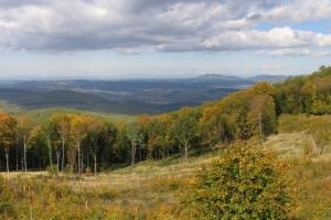 Kilátás északi irányban a Foton-rétről